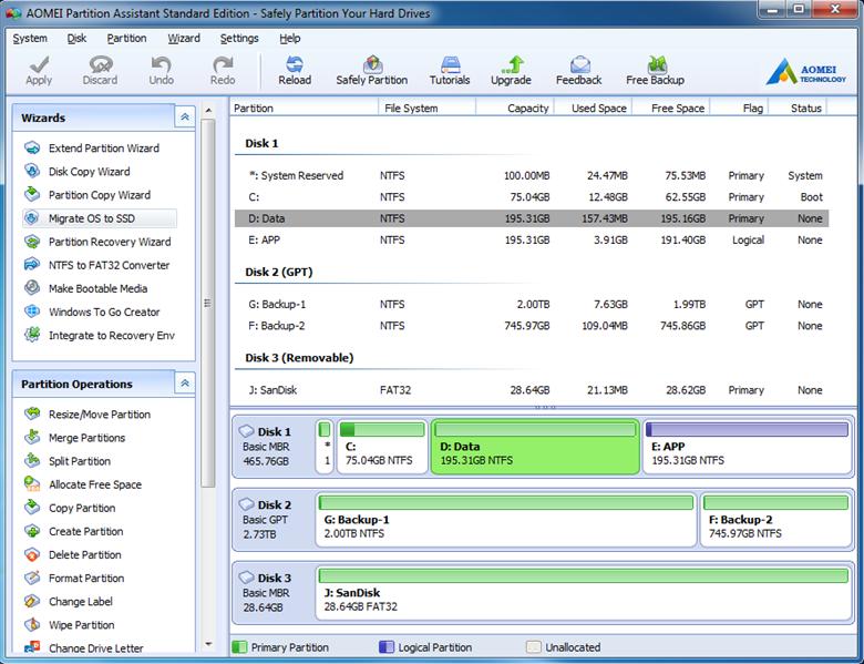 AOMEI Partition Assistant Standard Edition 9.1 код активации